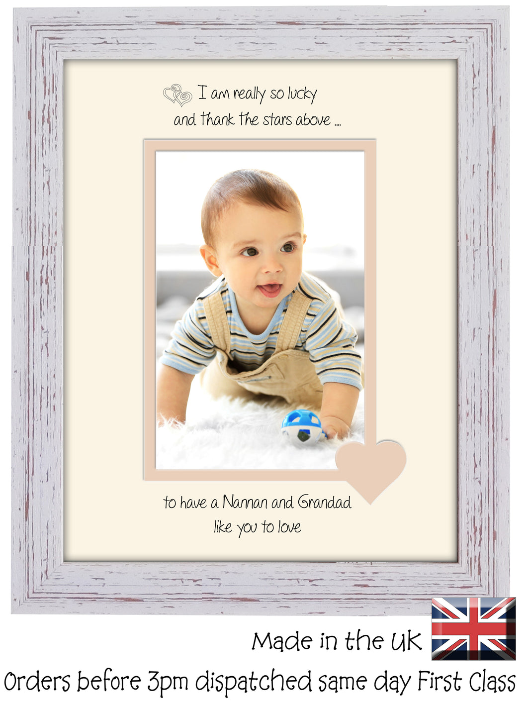 Nannan & Grandad Photo Frame - I Thank the stars Nannan & Grandad Portrait photo frame 6