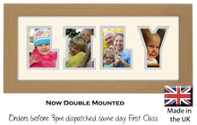 Lily Photo Frame - Lily Name Word Photo Frame 1313-BB 375mm x 151mm mount size  , Choices of frames & Borders