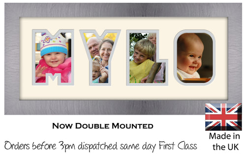 Mylo Photo Frame - Mylo Name Word Photo Frame 1330-BB 375mm x 151mm mount size  , Choices of frames & Borders