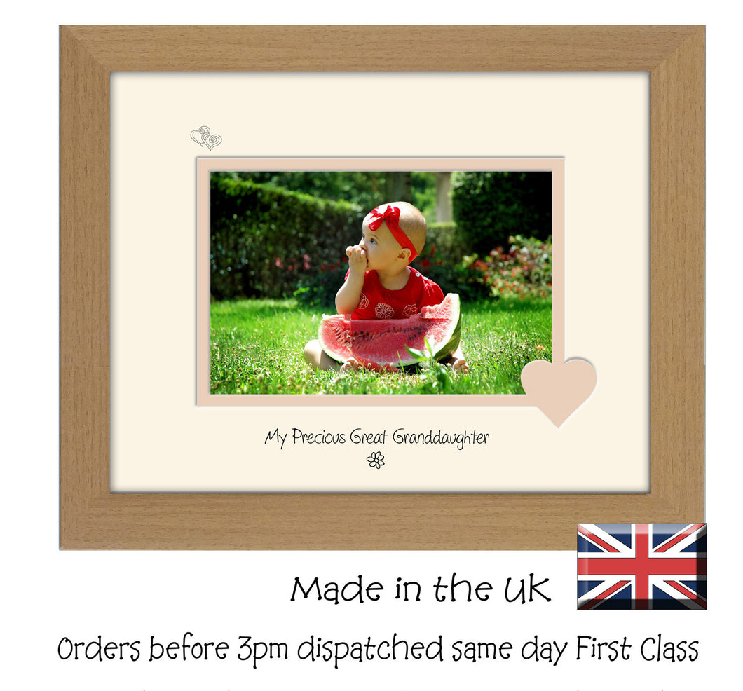 Great Granddaughter Photo Frame - My precious Great Granddaughter Landscape photo frame 6