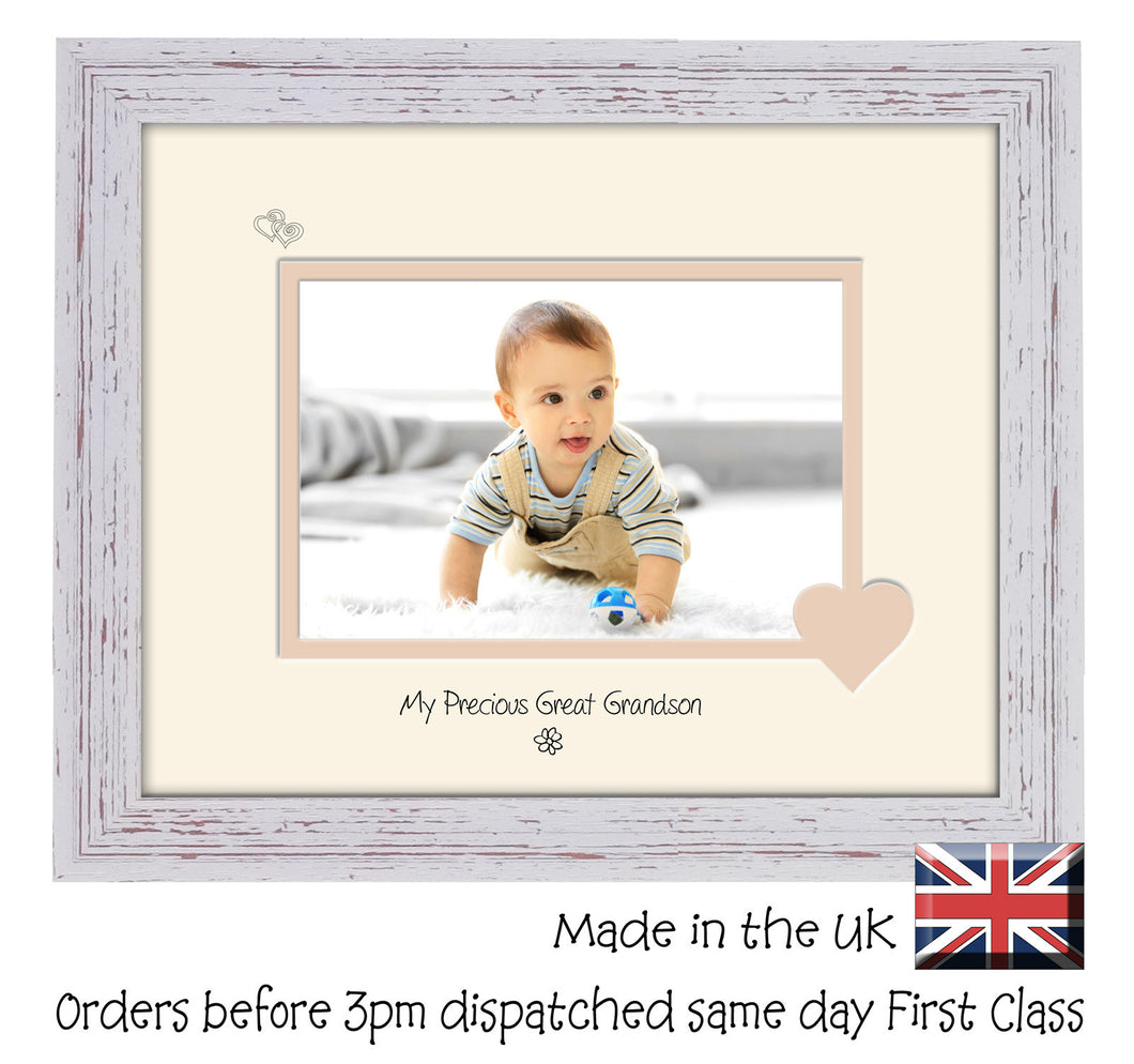 Great Grandson Photo Frame - My precious Great Grandson Landscape photo frame 6
