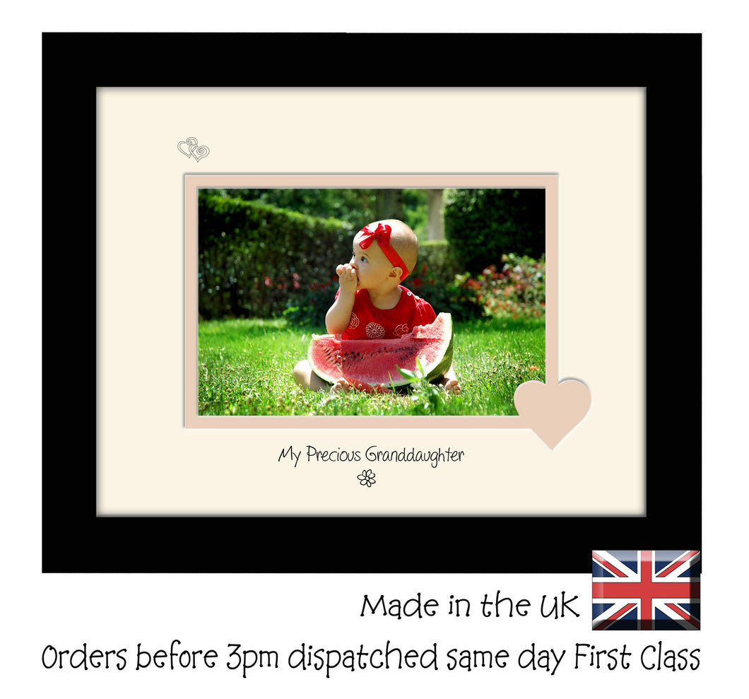 Granddaughter Photo Frame - My precious Granddaughter Landscape photo frame 6