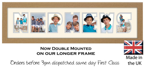 Nephews Photo Frame - Nephews Photo Frame 1278DD 640mm x 151mm mount size  , Choices of frames & Borders