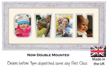 Owen Photo Frame - Owen Name Word Photo Frame 1324-BB 375mm x 151mm mount size  , Choices of frames & Borders