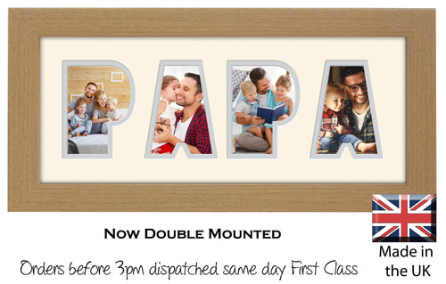 Papa Photo Frame Word Photo frame 1247-BB 375mm x 151mm mount size  , Choices of frames & Borders