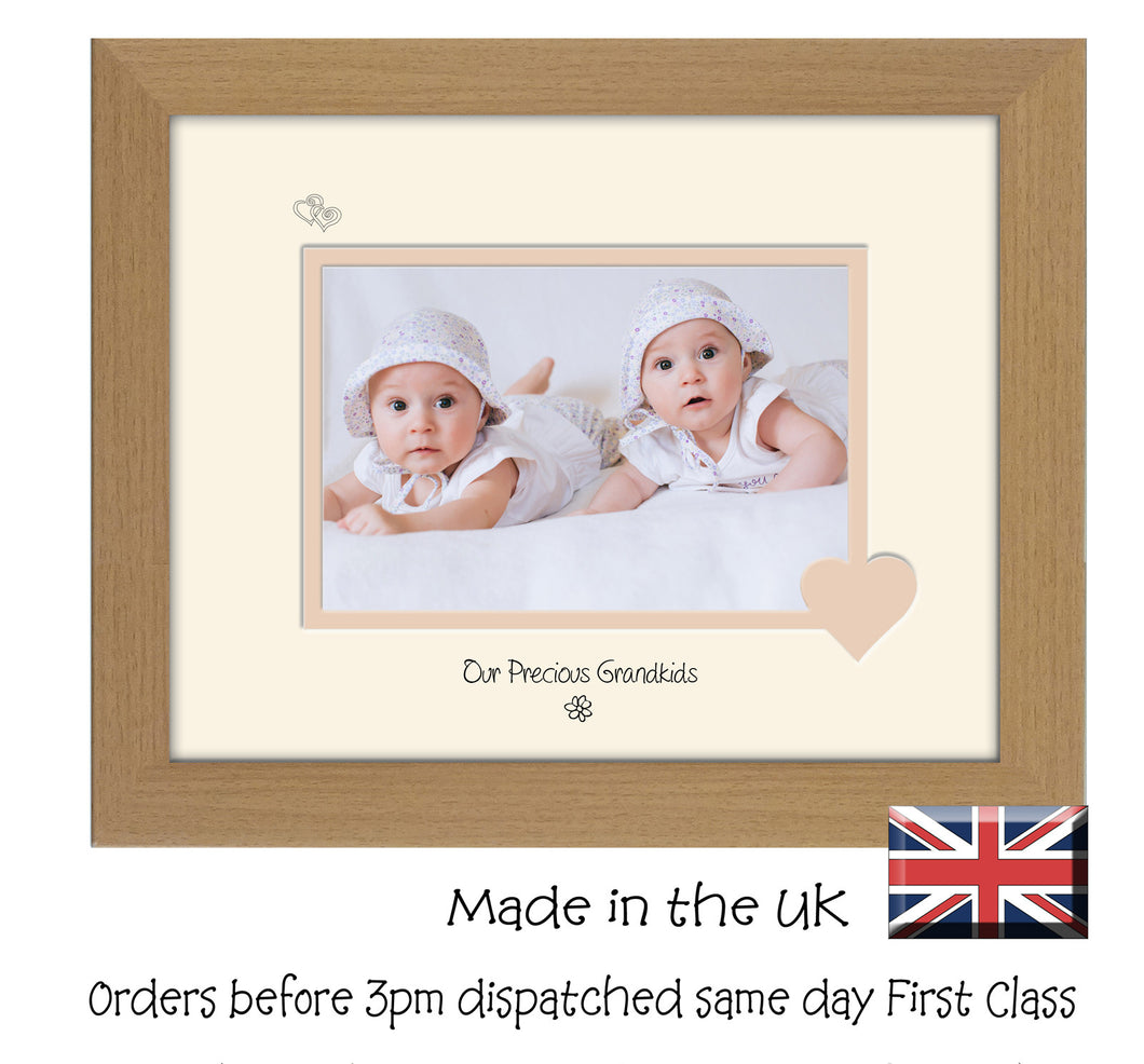 Grandkids Photo Frame - Our precious Grandkids Landscape photo frame 6