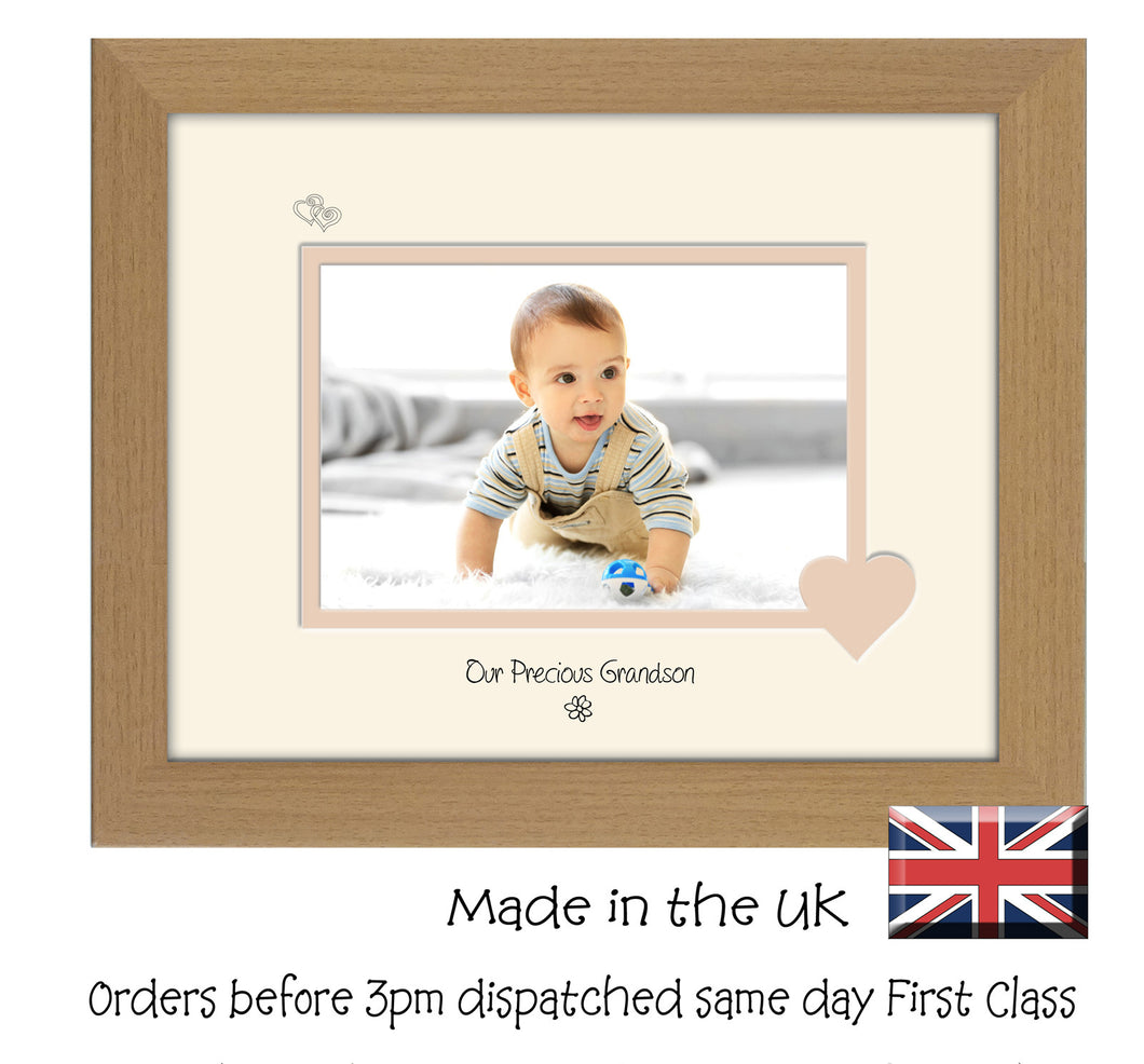 Grandson Photo Frame - Our precious Grandson Landscape photo frame 6