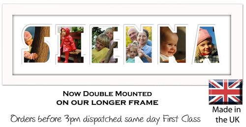 Sienna Photo Frame - Sienna Name Word Photo Frame 1308CC 545mm x 151mm mount size  , Choices of frames & Borders