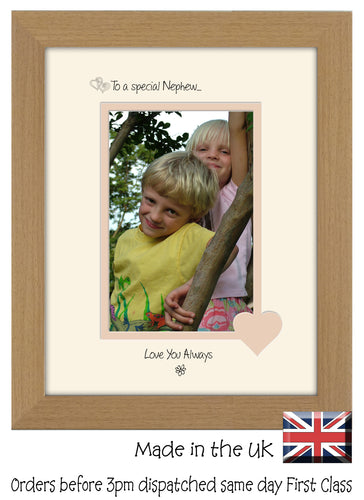 Nephew Photo Frame - To a Special Nephew ... Love you Always Portrait photo frame 6