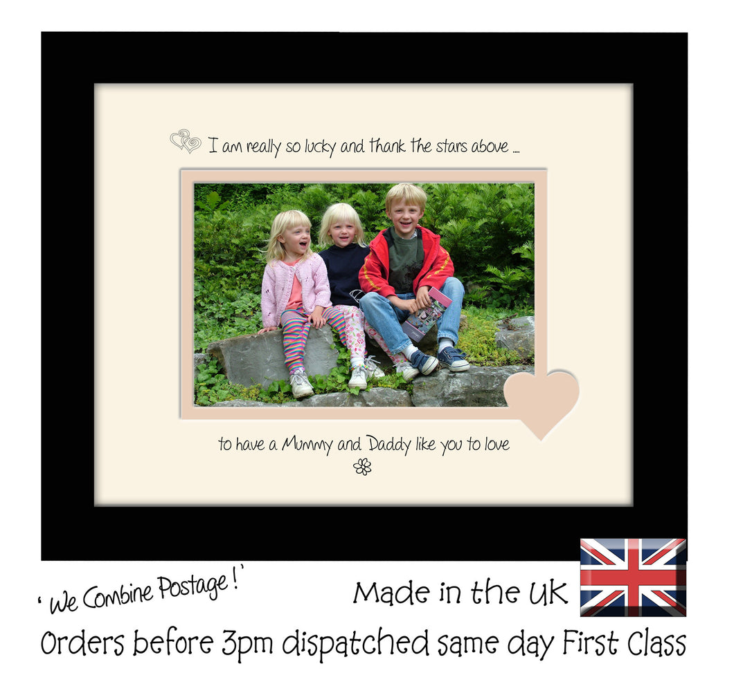 Mummy & Daddy Photo Frame - I Thank the stars Mummy and Daddy Landscape photo frame 6