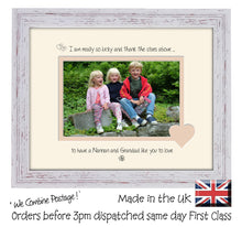 "Nannan & Grandad Photo Frame - I Thank the stars Nannan & Grandad Landscape photo frame 6""x4"" photo 817F 9""x7"" mount size  , Choices of frames & Borders"