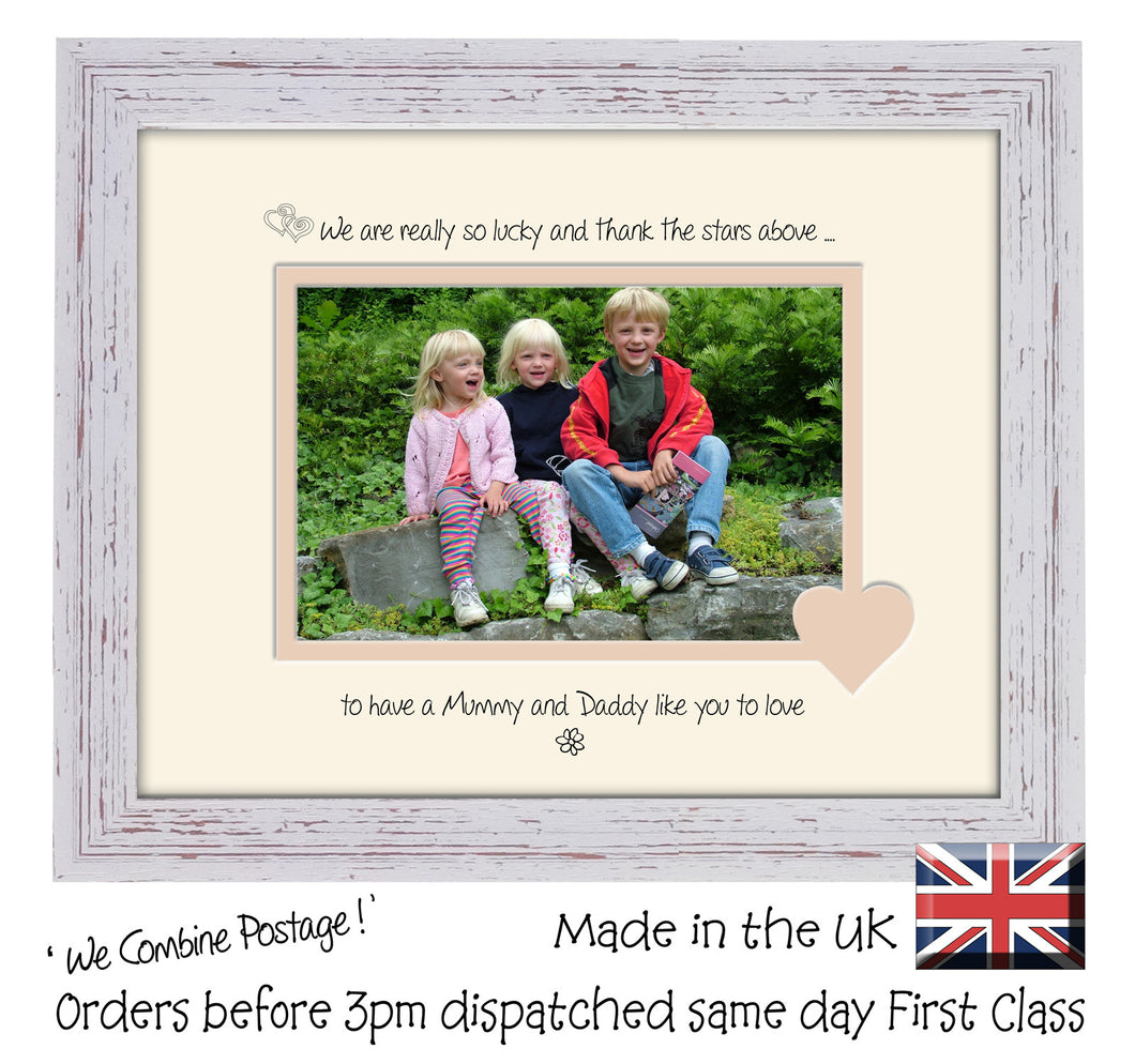 Mummy & Daddy Photo Frame - We Thank the stars Mummy and Daddy Landscape photo frame 6