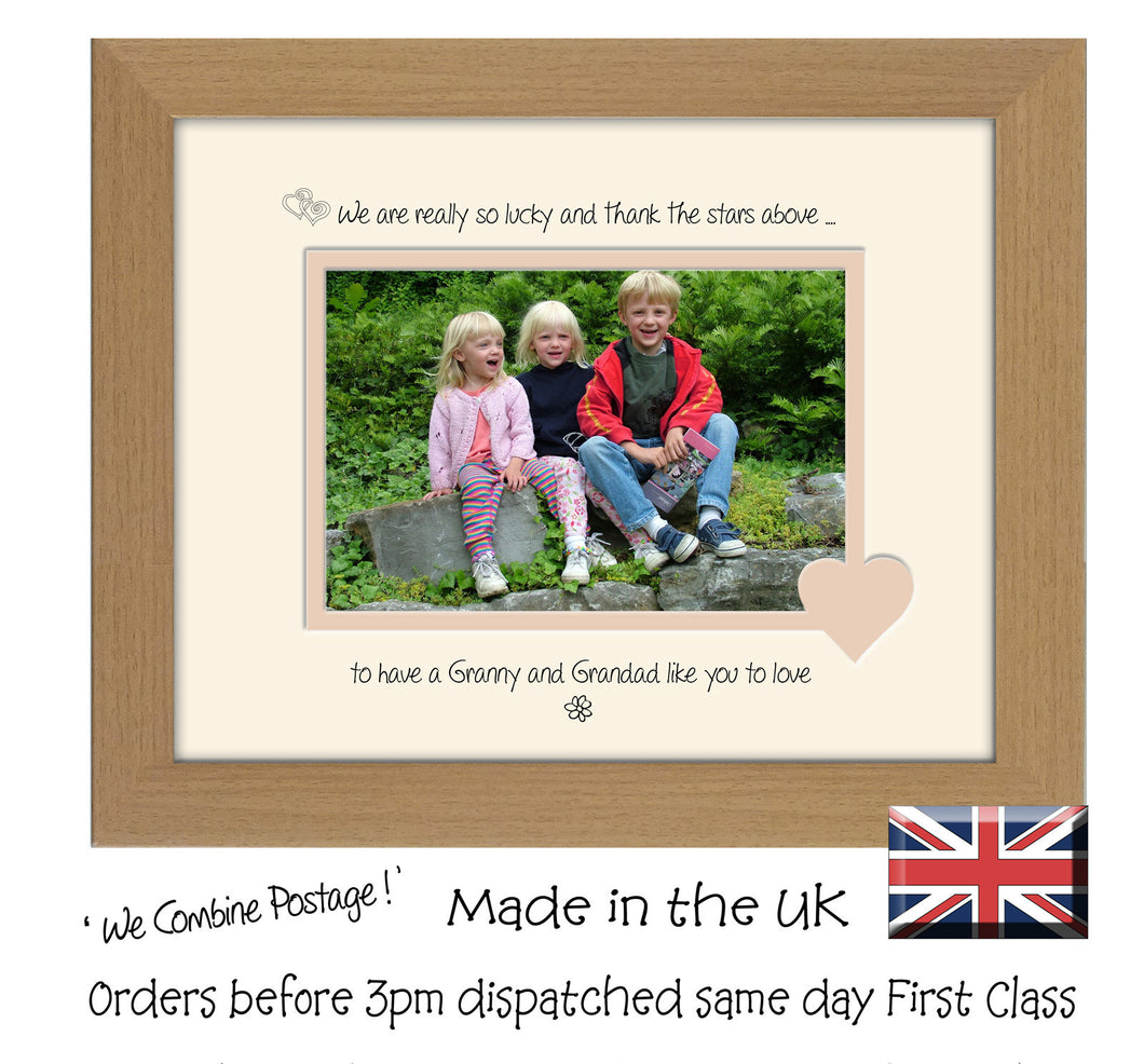 Granny & Grandad Photo Frame - We Thank the stars Granny & Grandad Landscape photo frame 6