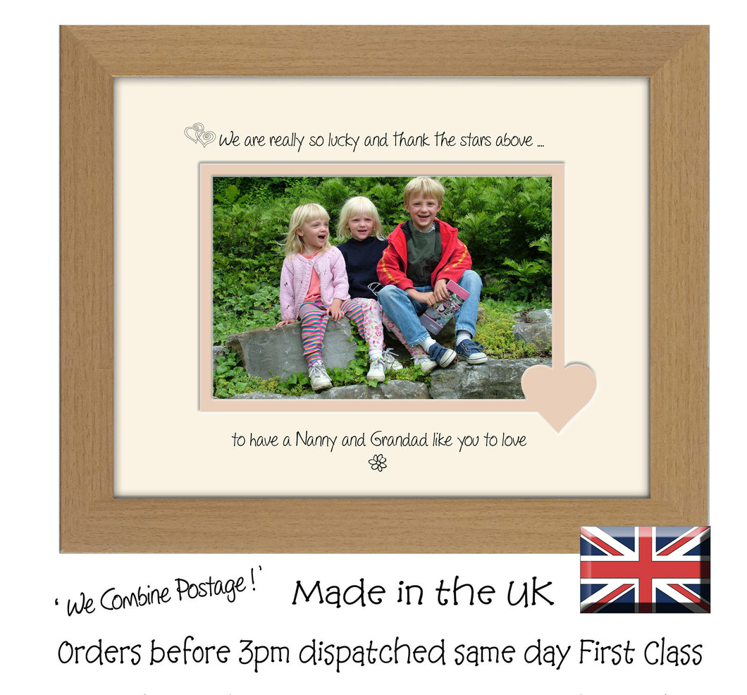 Nanny & Grandad Photo Frame - We Thank the stars Nanny and Grandad Landscape photo frame 6