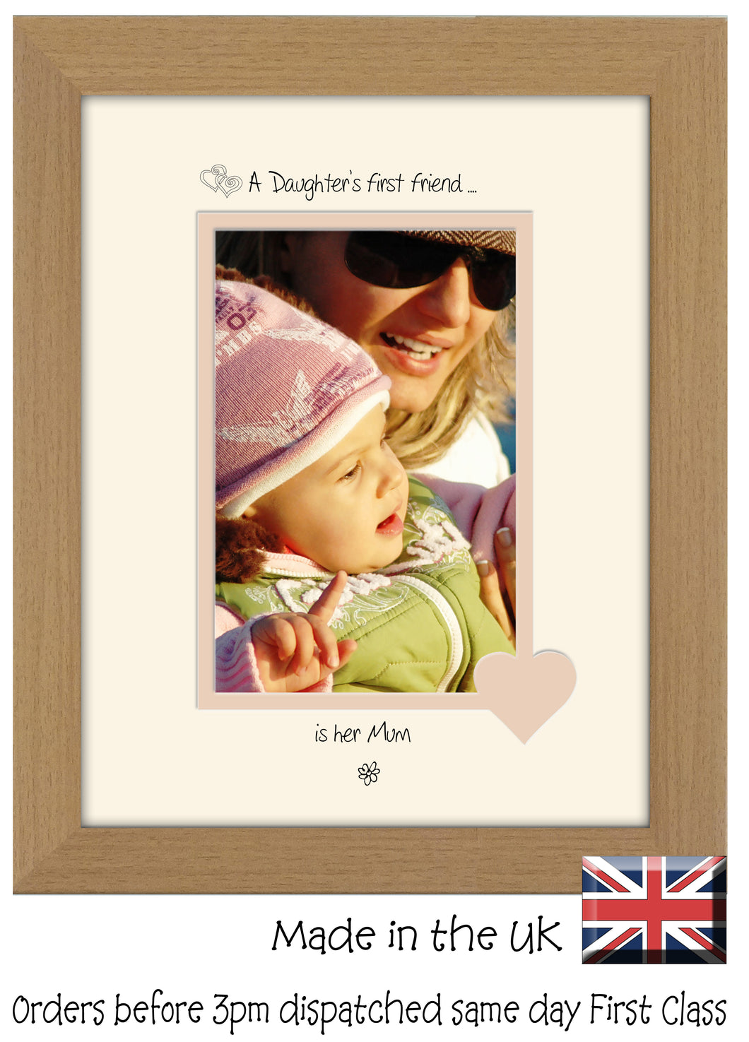Mum Photo Frame - A Daughters first friend…  is her Mum Portrait photo frame 6