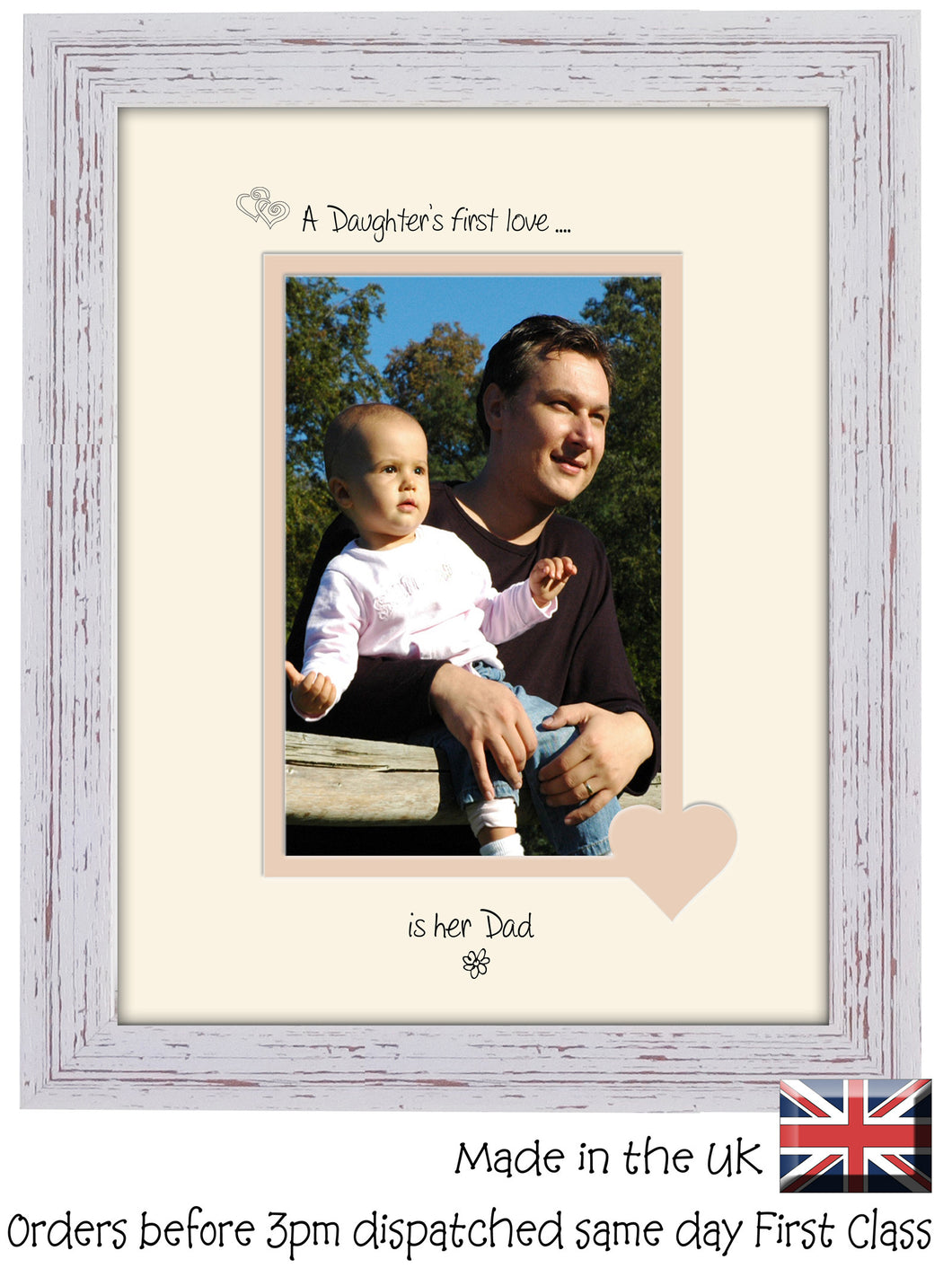 Dad Photo Frame - A Daughters first love is her Dad Portrait photo frame 6