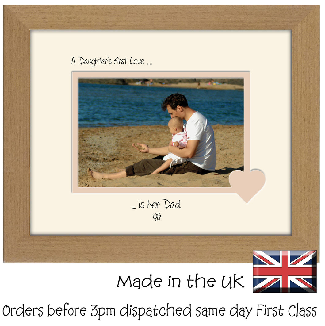 Dad Photo Frame - A Daughters first love is her Dad Landscape photo frame 6