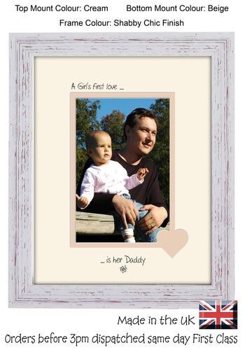 Daddy Photo Frame - A Girl's first love is her Daddy portrait photo frame 6