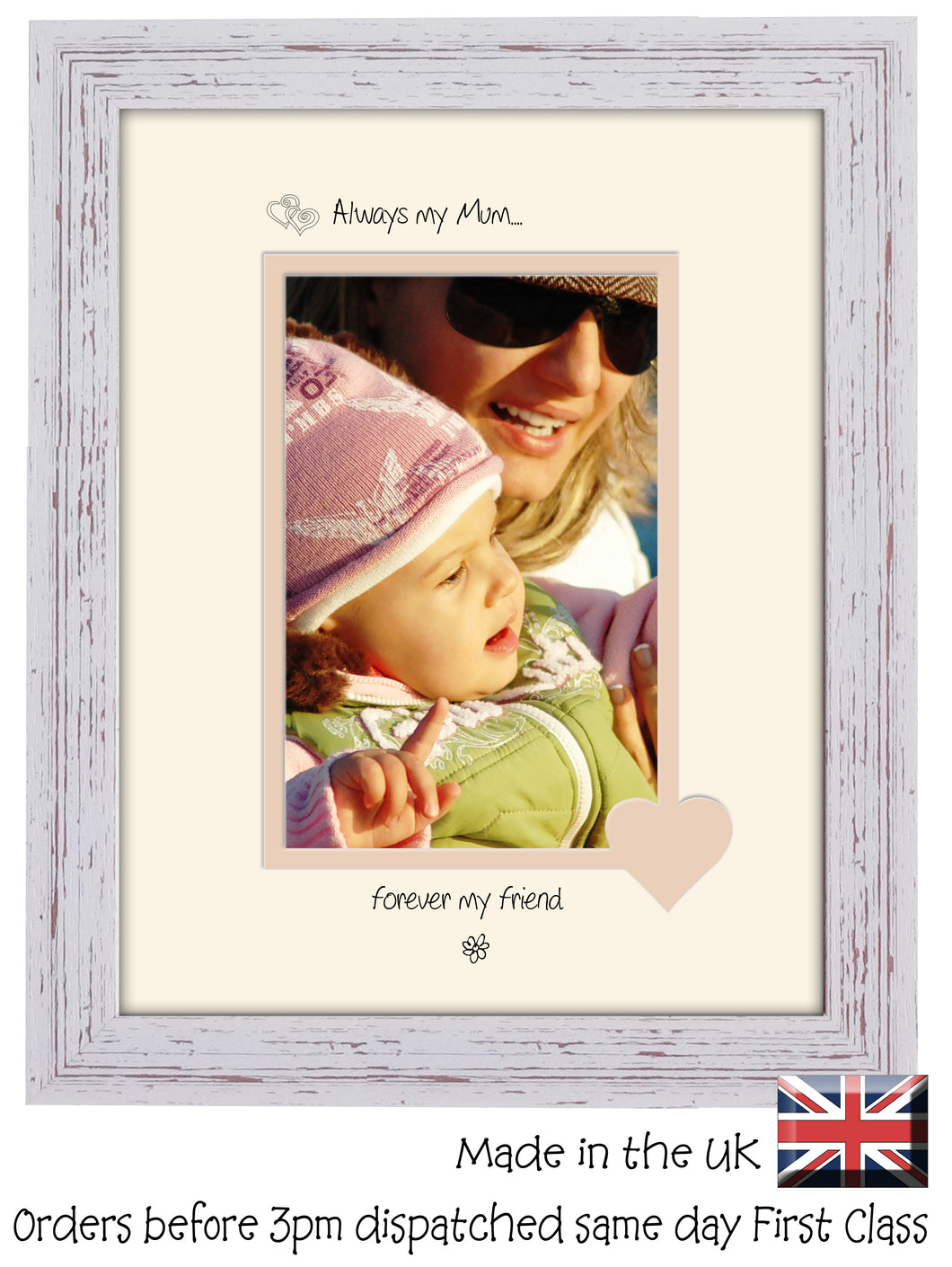 Mum Photo Frame - Always my mum... forever my friend Portrait photo frame 6
