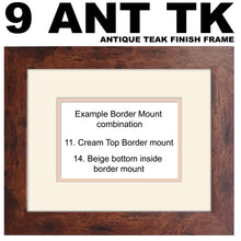 "3""x3"" x4 in Line Photo Frame Double Mounted Landscape and Portrait 943A 450mm x 151mm mount size , Choices of frames & Borders"