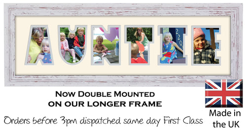 Auntie, Uncle Word Photo Frames – Photos in a word