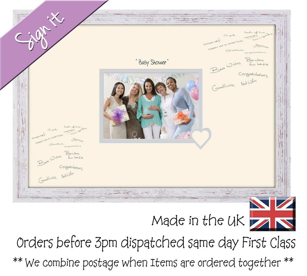 Baby Shower Photo Frame For Signing Signature For Guest Takes 7 X5