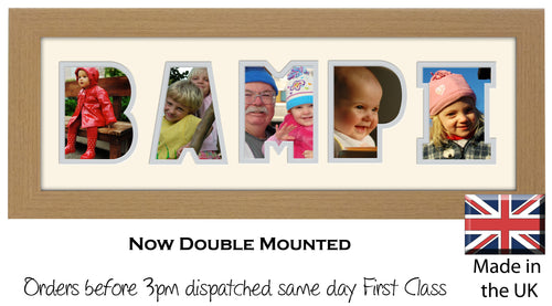 Bampi Photo Frame Welsh Word Photo Frame Photos in a Word 1267A 450mm x 151mm mount size  , Choices of frames & Borders