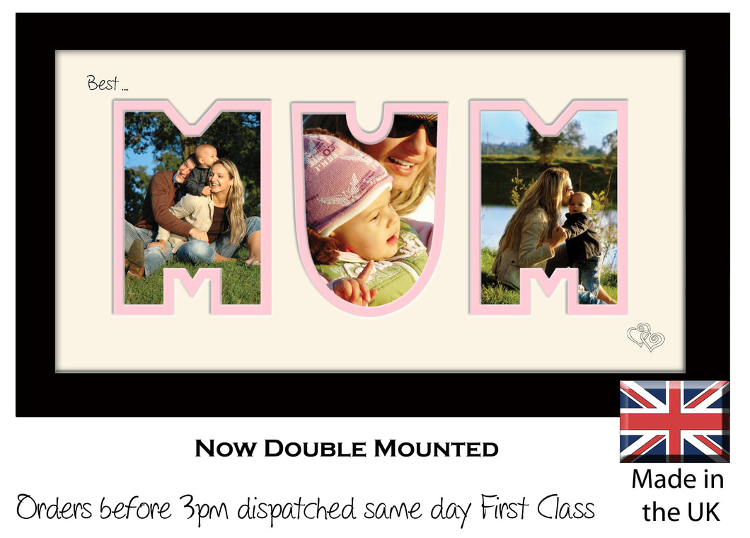Mum Photo Frame - Best Mum Photo Frame 1AA 297mm x 151mm mount size  , Choices of frames & Borders