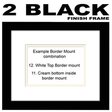"8""x10"" Plain Landscape Photo Frame Double Mounted 8""x10"" photo 941M 297mm x 347mm mount size , Choices of frames & Borders"