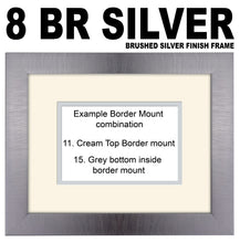 25th Silver Wedding Anniversary Double Mounted Photo Frame 860A 450mm x 151mm mount size  , Choices of frames & Borders