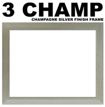 3 Letter Photo Frame - Double Mounted Three Letter Custom Name Personalised Word Photo Frame 1266AA 297mm x 151mm mount size  , Choices of frames & Borders
