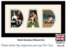 Dad Photo Frame - Dad Word Photo Frame 34AA 297mm x 151mm mount size  , Choices of frames & Borders