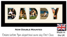Daddy Photo Frame - Daddy Plain Word Photo Frame 897A 450mm x 151mm mount size  , Choices of frames & Borders