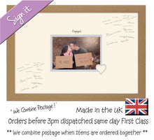 "Engaged Photo Frame for Signing Signature for Guest Takes 7""x5"" Photo by Photos in a Word 450mm x 297mm mount size 922D  , Choices of frames & Borders"