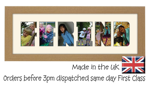 Ffrind Photo Frame Ffrind Word Photo Frame Friend CBC 450mm x 151mm mount size  , Choices of frames & Borders