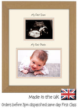 "My First Scan My First Picture Photo Frame Baby Boy Baby Girl 203mm x 254mm 8""x10"" mount size , Choices of frames & Borders"