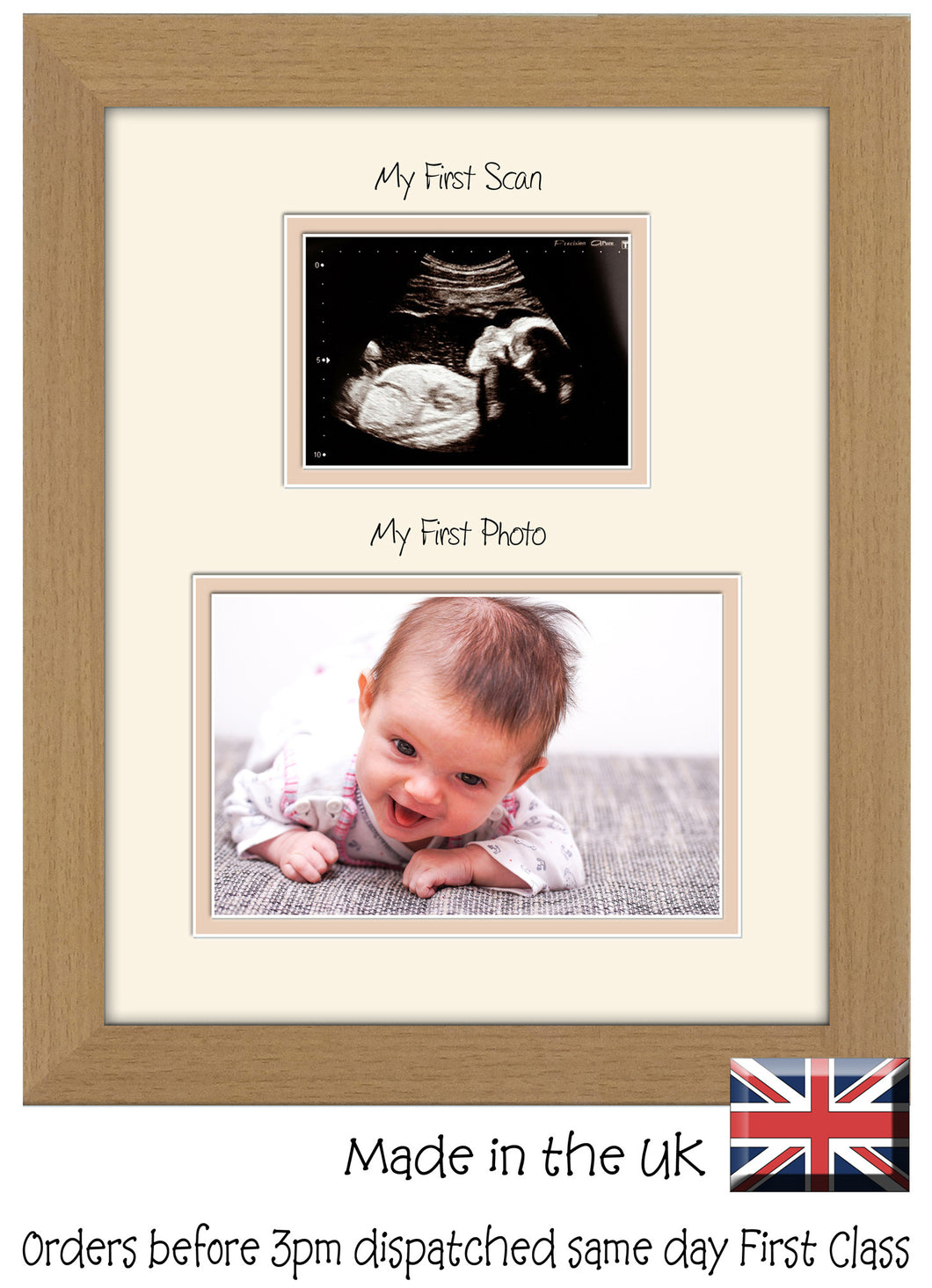 My First Scan My First Picture Photo Frame Baby Boy Baby Girl 203mm x 254mm 8