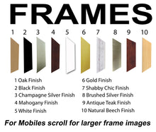3 to 8 Letters Word / Name / Number Photo Frame CBC 450mm x 151mm mount size , Choices of frames & Borders