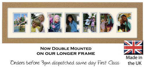 Friends Photo Frame - Friends Photo Frame 22DD 640mm x 151mm mount size  , Choices of frames & Borders