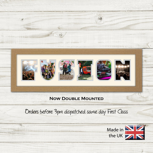Fusion Photo Frame - Fusion Music Festival Word Photo Frame 1364CC 545mm x 151mm mount size  , Choices of frames & Borders