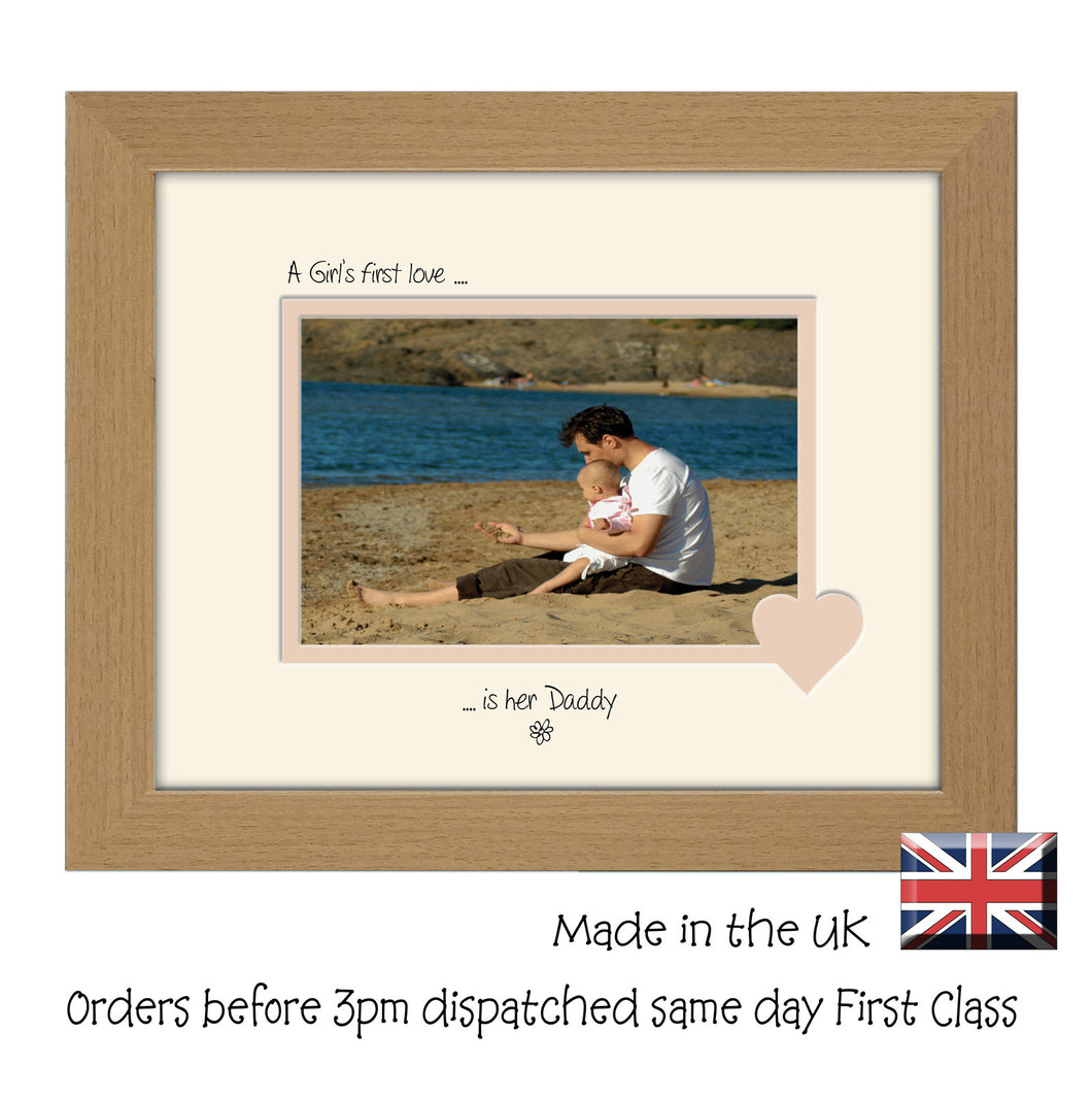 Daddy Photo Frame - A Girl's first love is her Daddy Landscape photo frame 6