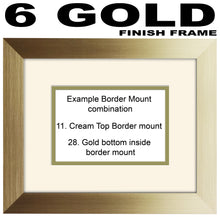 "50th Birthday Photo Frame - Fiftieth Birthday Landscape photo frame 1184F 9""x7"" mount size  , Choices of frames & Borders"