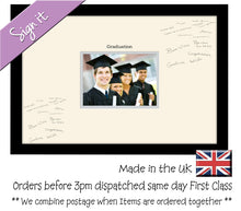 "Graduation Photo Frame for Signing Signature for Guest Takes 7""x5"" Photo by Photos in a Word 450mm x 297mm mount size 921D  , Choices of frames & Borders"