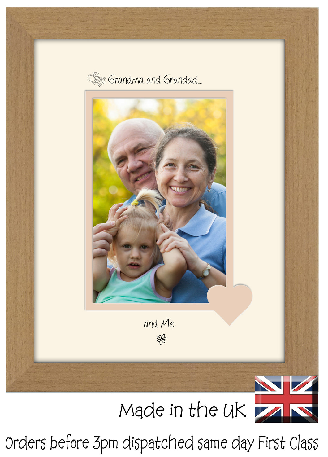 Grandma & Grandad Photo Frame - Grandma and Grandad… ...and me! Portrait photo frame 6