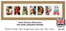 Grandpa Photo Frame - Grandpa Word Photo Frame 85DD 640mm x 151mm mount size  , Choices of frames & Borders