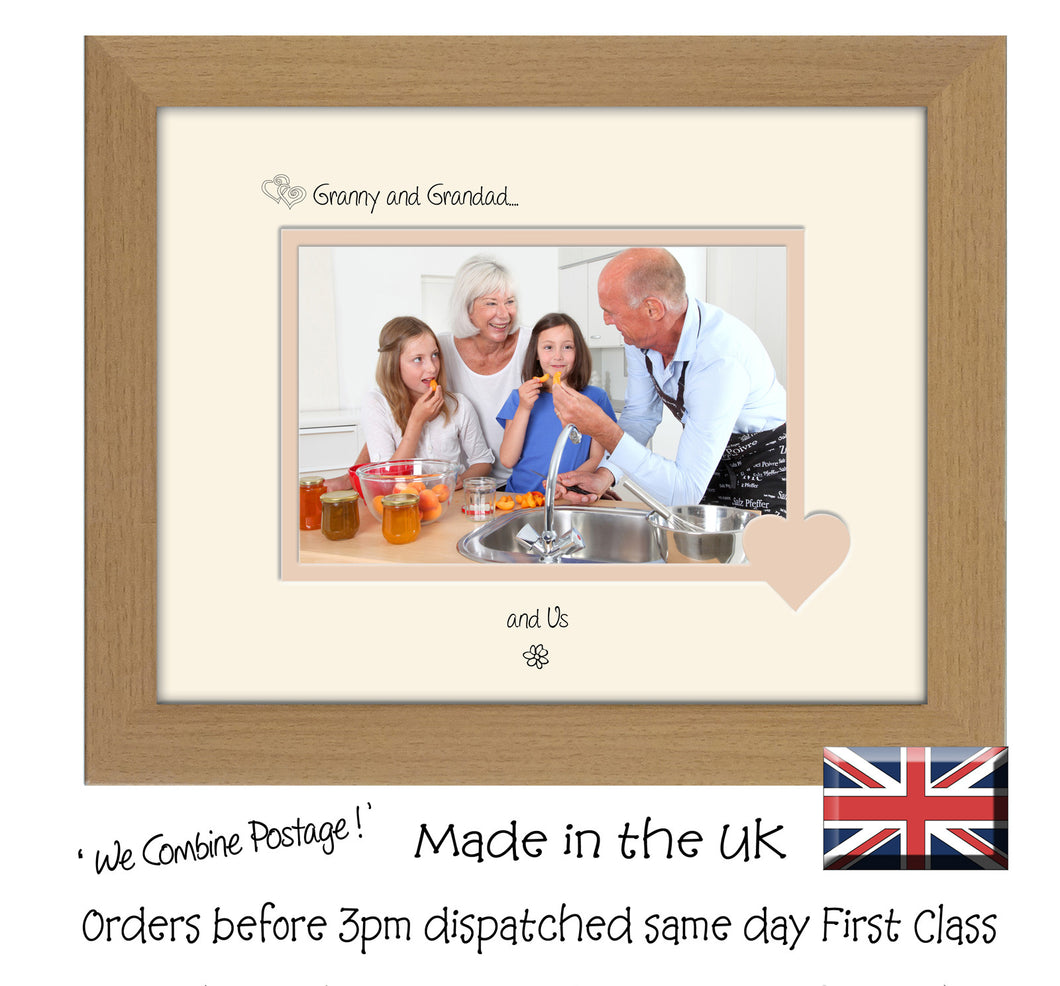 Granny & Grandad Photo Frame - Granny and Grandad… ...and us! Landscape photo frame 6