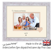 "Grandma & Grandad Photo Frame - Grandma and Grandad… ...and us! Landscape photo frame 6""x4"" photo 763F 9""x7"" mount size  , Choices of frames & Borders"