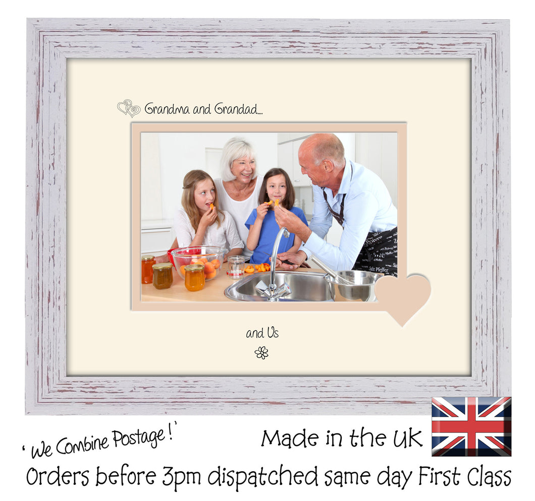 Grandma & Grandad Photo Frame - Grandma and Grandad… ...and us! Landscape photo frame 6