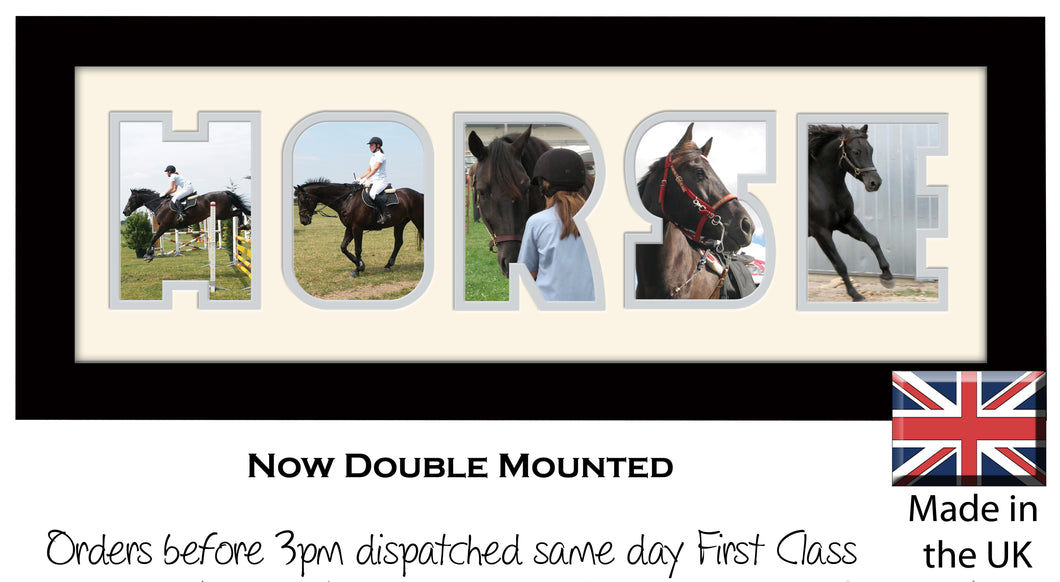 Horse Photo Frame - Horse Photo Frame 26A 450mm x 151mm mount size  , Choices of frames & Borders