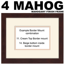 "4""x4"" x4 and 5""x5"" Square Boxes Plain Photo Frame Double Mounted 945D 450"" x 297mm mount size  , Choices of frames & Borders"